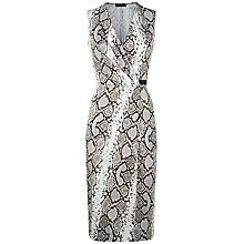 Buy Jaeger Jersey Python Print Dress, Natural Online at johnlewis.com
