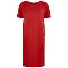 Buy Jaeger Ottoman Jersey Dress, Haute Red Online at johnlewis.com