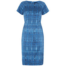 Buy Jaeger Silk Shift Dress, Indigo Online at johnlewis.com