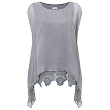 Buy Phase Eight Cortina Lace Silk Blouse, Furrow Grey Online at johnlewis.com