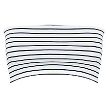 Buy Miss Selfridge Stripe Bandeau Top, White Online at johnlewis.com