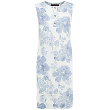 Buy Jaeger Linen Floral Shift Dress, Eventide Online at johnlewis.com