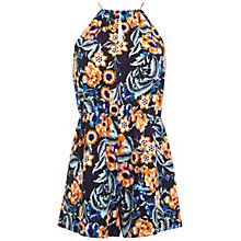 Buy Miss Selfridge Petite Print Playsuit, Blue Online at johnlewis.com
