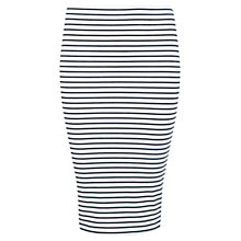 Buy Miss Selfridge Stripe Pencil Skirt, White Online at johnlewis.com