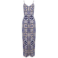 Buy Miss Selfridge Paisley Print Jumpsuit, Multi Online at johnlewis.com