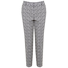 Buy Miss Selfridge Monochrome Daisy Print Trousers, Multi Online at johnlewis.com