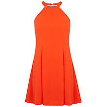 Buy Miss Selfridge Petite Halterneck Dress, Coral Online at johnlewis.com