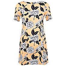 Buy Miss Selfridge Petite Floral Tee Dress, Orange Online at johnlewis.com