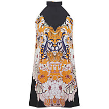 Buy Miss Selfridge Floral High Neck Dress, Multi Online at johnlewis.com