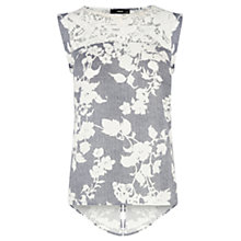 Buy Oasis Stripe Shadow Lace T-shirt, Multi Online at johnlewis.com