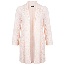 Buy Miss Selfridge Lace Longline Duster Jacket, Nude Online at johnlewis.com