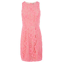 Buy Oasis Sienna Lace Dress, Mid Pink Online at johnlewis.com