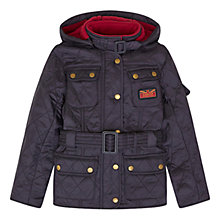 Buy Barbour Girls' International Viper Quilt Coat, Navy Online at johnlewis.com