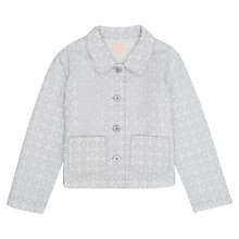 Buy Jigsaw Junior Girls' Embroidery Daisy Jacket, Grey Online at johnlewis.com