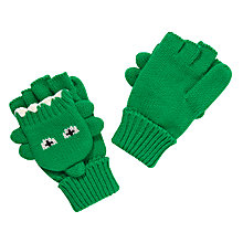 Buy John Lewis Dino Flip Gloves, Green Online at johnlewis.com