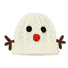 Buy John Lewis Snow Man Beanie Hat, White Online at johnlewis.com