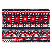 Buy John Lewis Festive Fairisle Print Snood, Navy, One Size Online at johnlewis.com