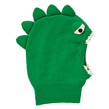 Buy John Lewis Dino Knit Balaclava, Green Online at johnlewis.com