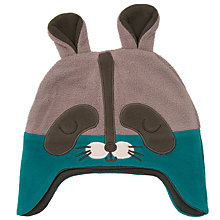 Buy John Lewis Baby's Fleece Raccoon Hat, Navy Online at johnlewis.com
