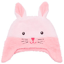 Buy John Lewis Baby's Fleece Rabbit Hat, Pink Online at johnlewis.com
