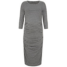Buy Isabella Oliver Nicholson Striped Maternity Dress, Grey Marl/White Online at johnlewis.com