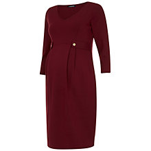 Buy Isabella Oliver Marlow Tab Maternity Dress, Deep Burgundy Online at johnlewis.com