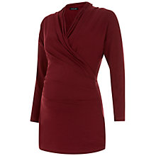 Buy Isabella Oliver Avebury Wrapover Maternity Nursing Top, Deep Burgundy Online at johnlewis.com