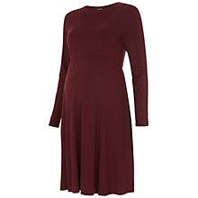 Buy Isabella Oliver Danbury Maternity Dress, Deep Burgundy Online at johnlewis.com