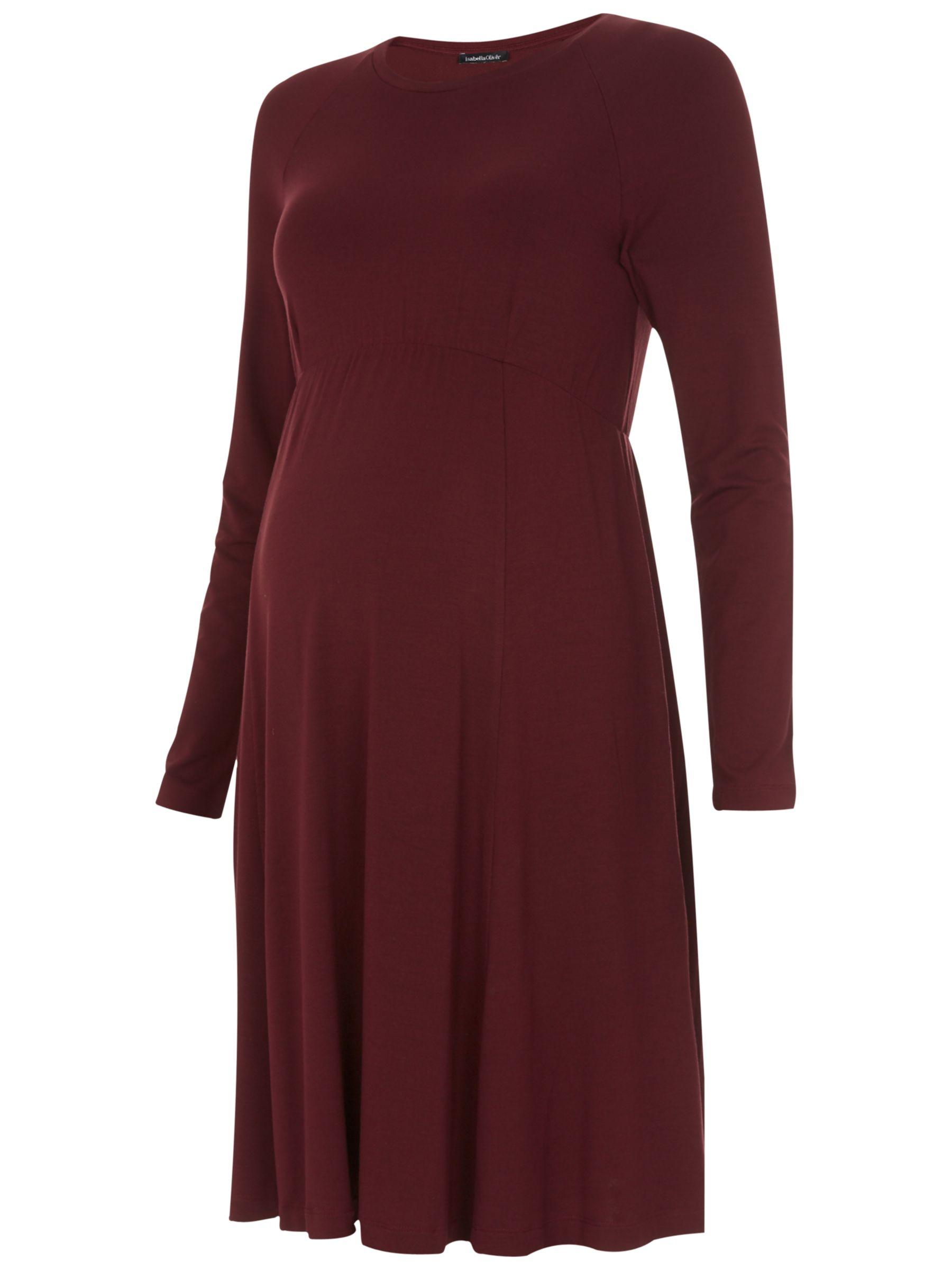 Isabella Oliver Isabella Oliver Danbury Maternity Dress, Deep Burgundy