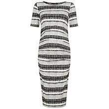 Buy Isabella Oliver Kerwood Print Maternity Dress, Grey/White Online at johnlewis.com