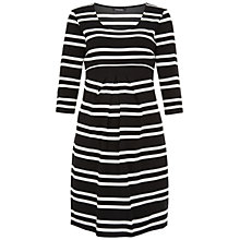 Buy Isabella Oliver Finch Striped Maternity Dress, Black/White Online at johnlewis.com