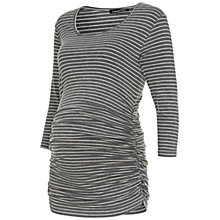 Buy Isabella Oliver Millie Striped Maternity Top, Grey Marl/White Online at johnlewis.com