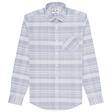 Buy Reiss Ramirez Slim Fit Check Shirt, Blue Online at johnlewis.com