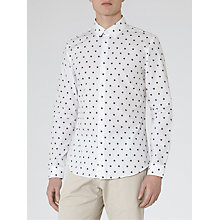 Buy Reiss Didier Polka Dot Shirt, White Online at johnlewis.com