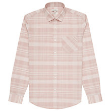 Buy Reiss Ramirez Slim Fit Check Shirt, Rose Online at johnlewis.com
