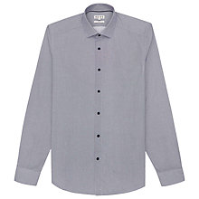 Buy Reiss Romeo Diamond Jacquard Weave Shirt, Blue Online at johnlewis.com