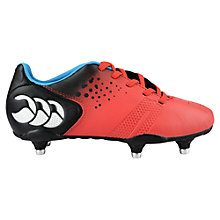 Buy Canterbury of New Zealand Children's Control Club 6 Stud Football Boots, Red/Multi Online at johnlewis.com
