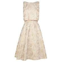 Buy Coast Whistan Metallic Dress, Gold Online at johnlewis.com