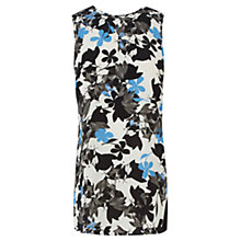 Buy Oasis Longline Shadow Pansy Chiffon Top, Multi Online at johnlewis.com