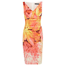 Buy Karen Millen Painterly Splash Floral Print Dress, Red/Multi Online at johnlewis.com