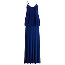Buy Phase Eight Silk Tiered Maxi Dress, Blue Online at johnlewis.com