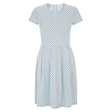 Buy Hobbs Karen Spot Dress, Blue Navy Online at johnlewis.com