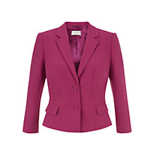 Buy Hobbs Vivien Jacket, Dark Pink Online at johnlewis.com
