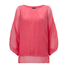 Buy Phase Eight Mimosa Silk Blouse, Sorbet Online at johnlewis.com