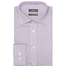 Buy John Lewis Twill Stripe Tailored Shirt, Lilac Online at johnlewis.com