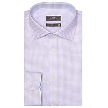 Buy John Lewis Chevron Tailored Shirt, Lilac Online at johnlewis.com