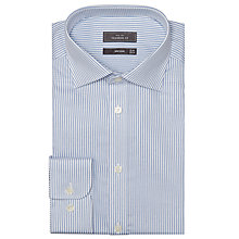 Buy John Lewis Twill Stripe Tailored XL Sleeve Shirt, Blue Online at johnlewis.com