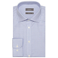 Buy John Lewis Houndstooth Shirt, Blue Online at johnlewis.com
