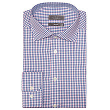 Buy John Lewis Shadow Check Tailored Shirt, Pink Online at johnlewis.com