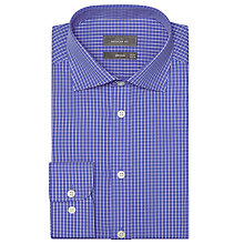 Buy John Lewis Poplin Grid Check Shirt, Royal Blue Online at johnlewis.com